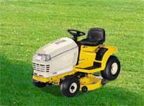 We repair riding mower decks